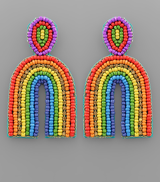 Arched Style Earrings - Rainbow