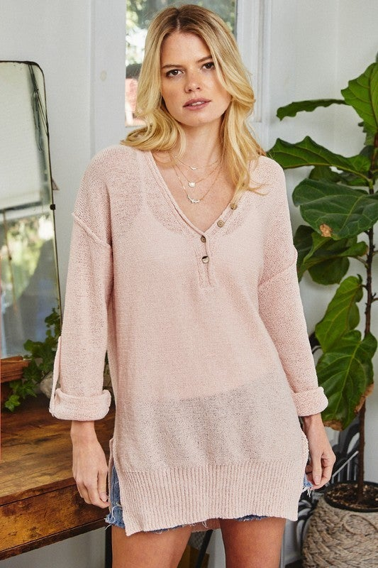 It's Go Time Sweater - Blush