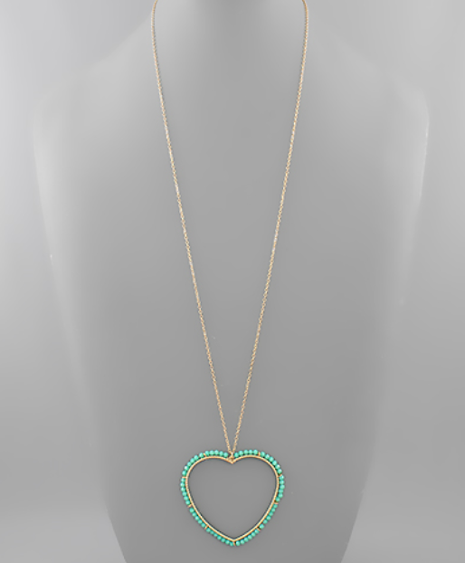 All About Hearts Necklace - Mint