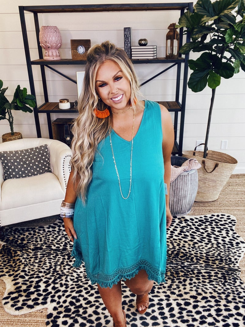 Sweetheart Dress - Jade