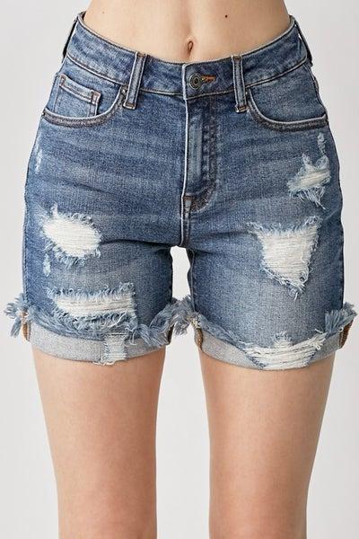 PLUS/REG Go Get 'Em Distressed Shorts