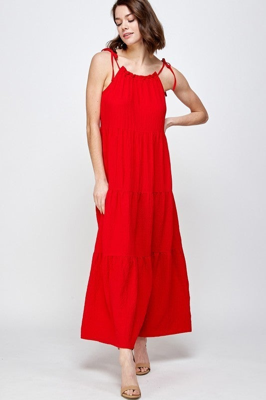 Dance The Day Away Dress - Red