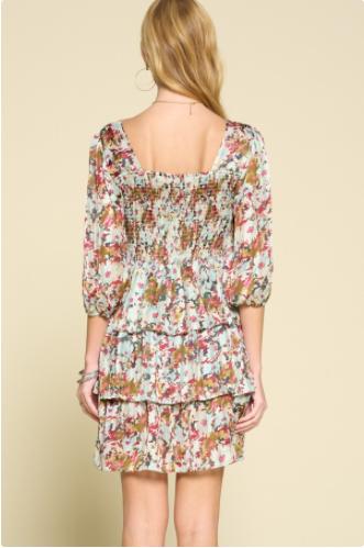 Reg/Plus Fabulous Flowers Dress - Sage