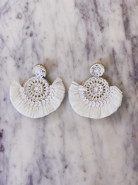 Just About Us Earrings-White
