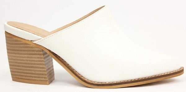 Welcome To Comfort Mules - Snake White