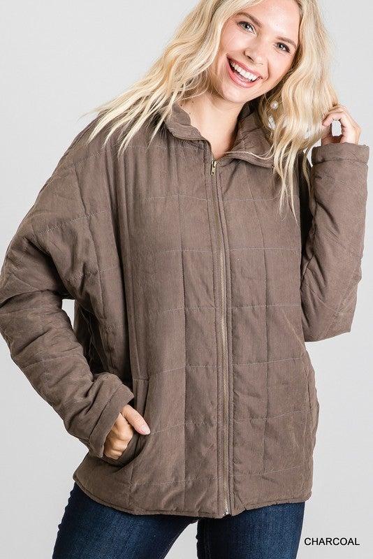 Keep Me Close Jacket - Charcoal