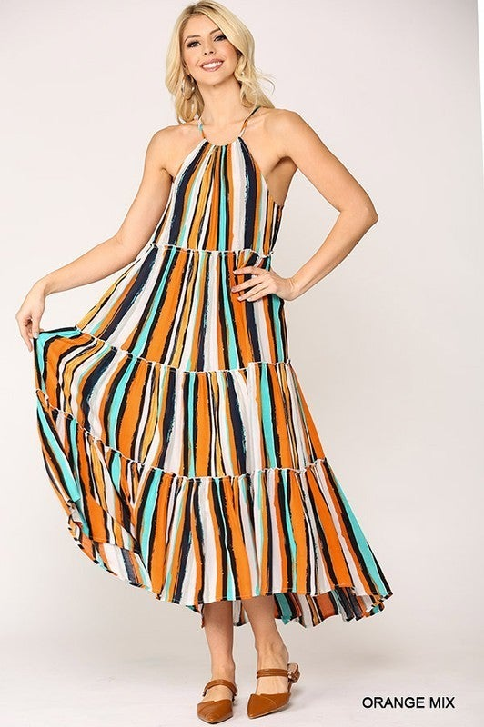 Summer Salsa Dress - Orange