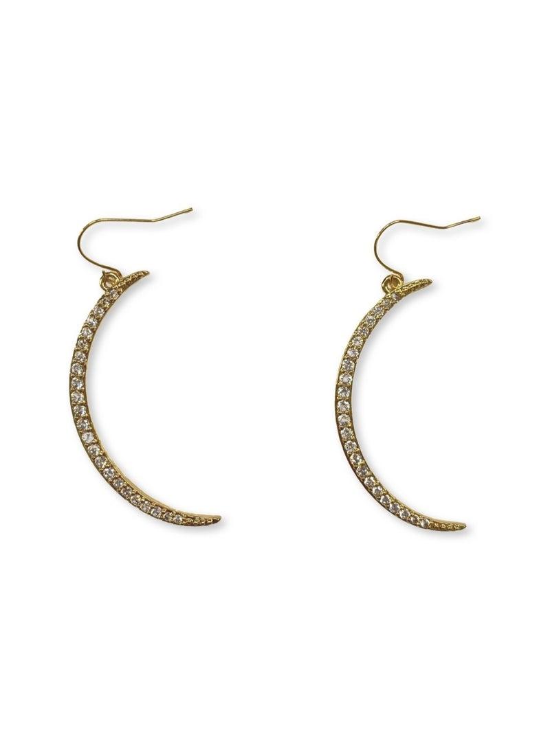 Jennifer Thames Big Crescent Moon Earrings