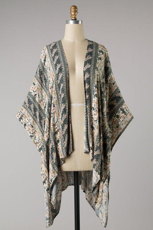 Confident in Flowers Kimono
