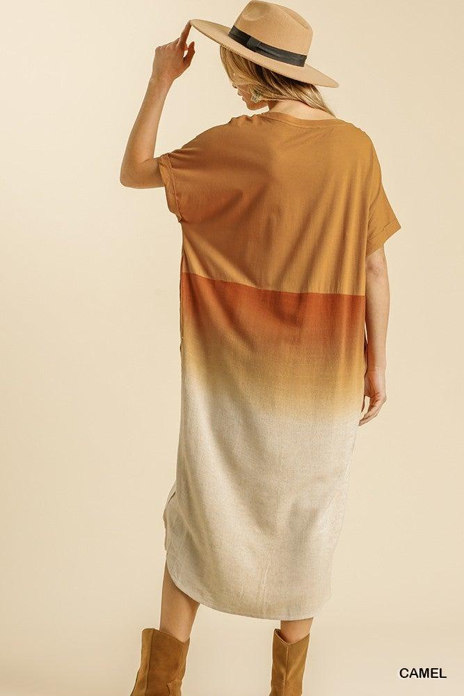 New Beginnings Dress - Camel