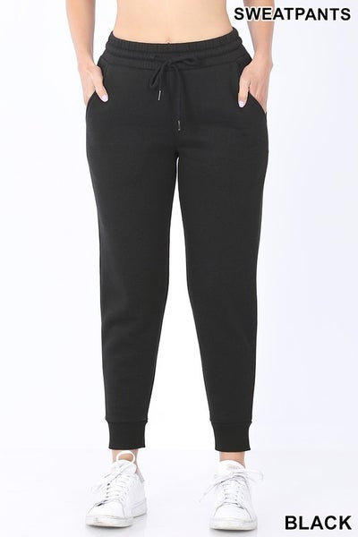 Reg/Plus Let's Go For a Jog Joggers - Black