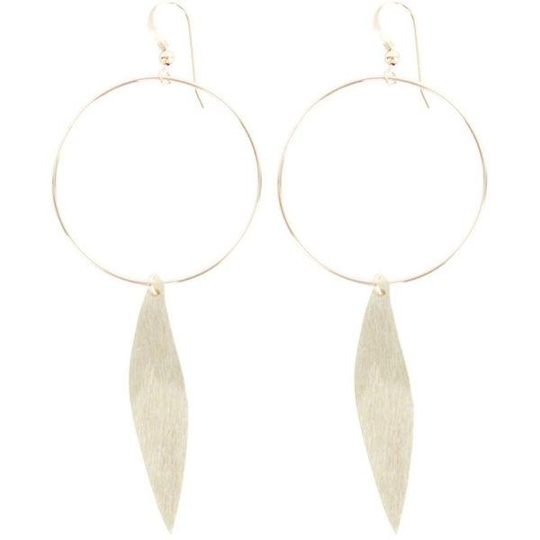 love, poppy circle + wave earrings