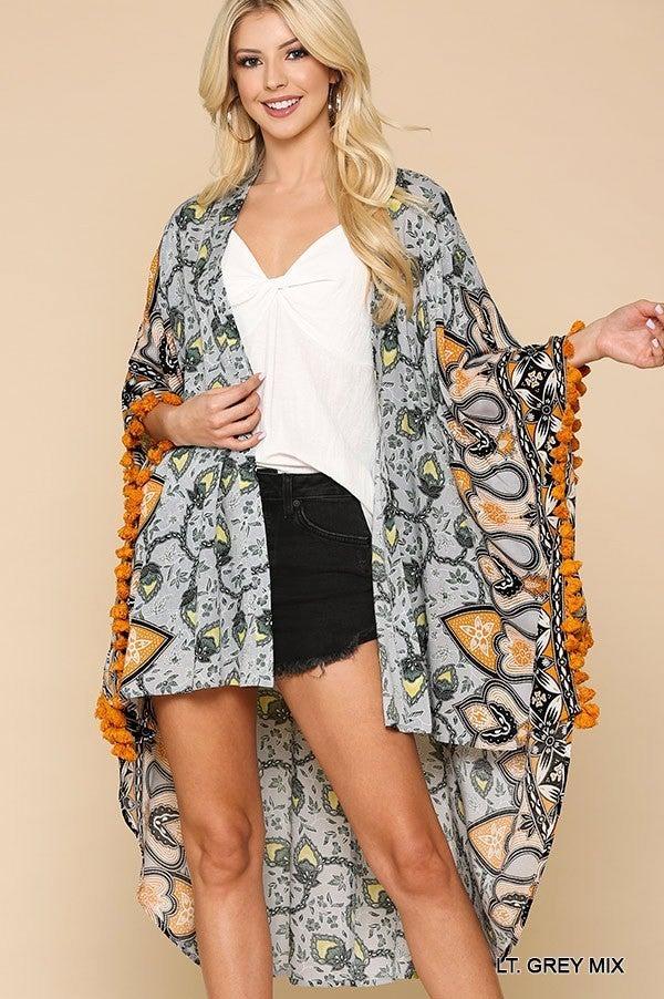 All For Love Kimono - Grey
