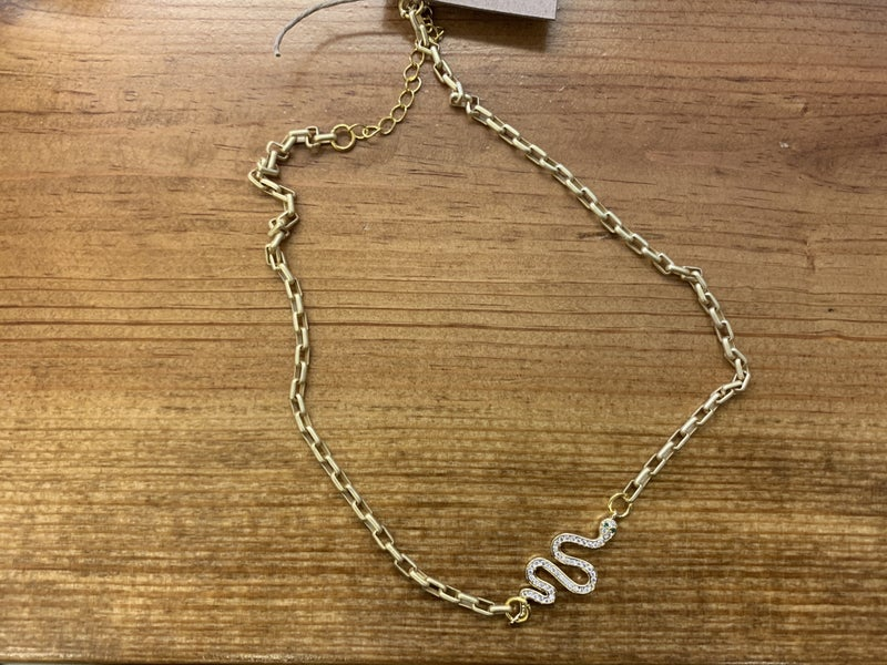 Jennifer Thames Snake Necklace