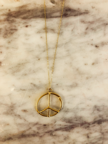 Love, Poppy Peace Necklace