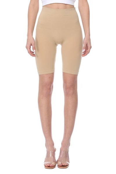 Tummy Control Biker Shorts-Nude
