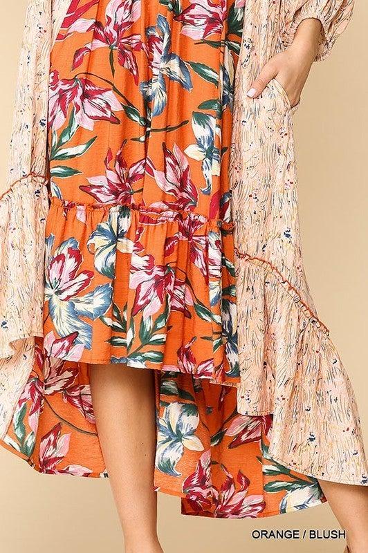 Into The Sun Dress - Orange