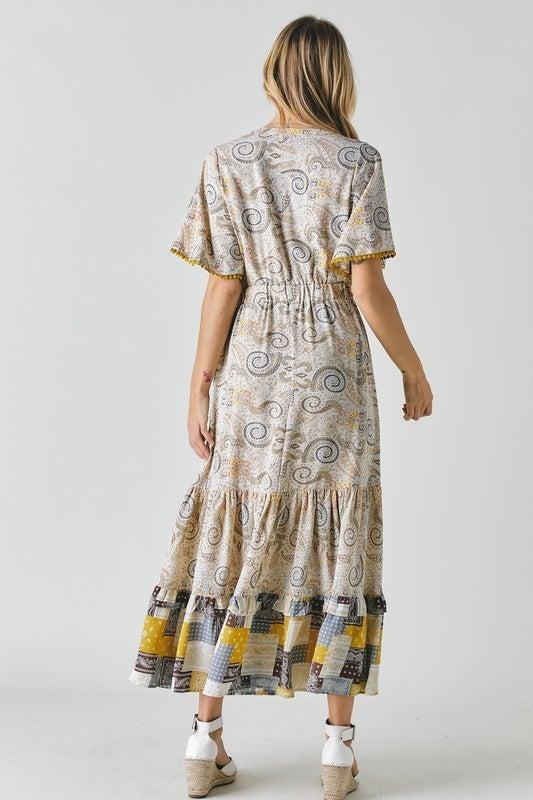 PLUS/REG Be Optimistic Dress - Mustard