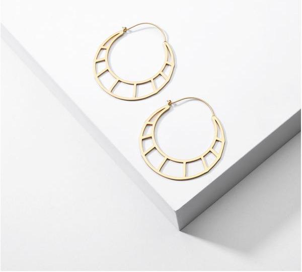 Geometric Hollow Earrings