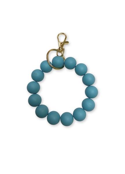 Keep Them Looking Key Ring Bracelet - Turquoise