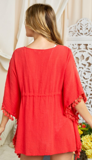 Humble & Kind Kimono - Red