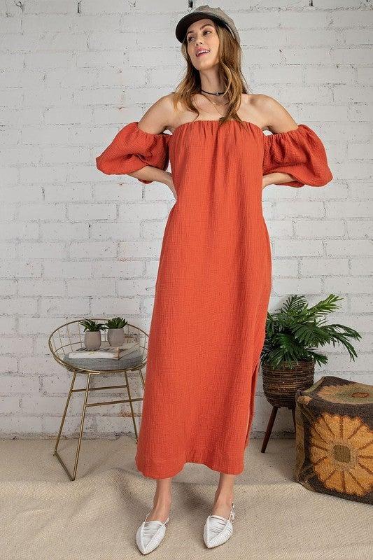 Work It Girl Maxi Dress - Crimson