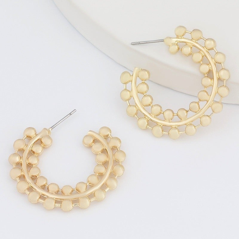 Dot Your C's Earrings