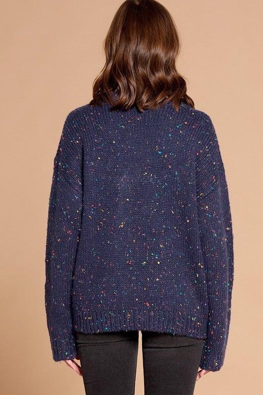Reg/Plus Flecks on Fleek Sweater - Navy
