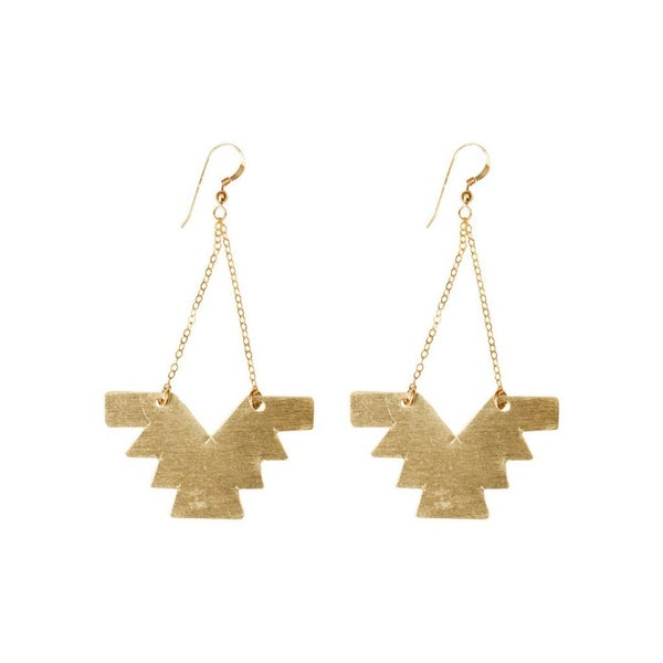 love, poppy aztec chain earrings