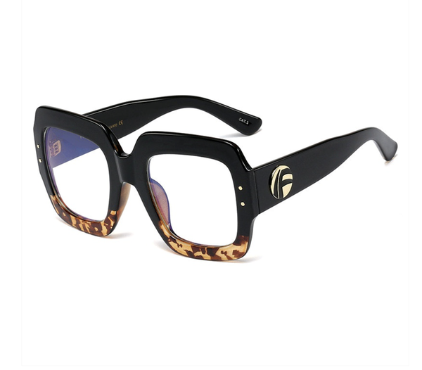 All A Daydream Blue Light Glasses - Leopard
