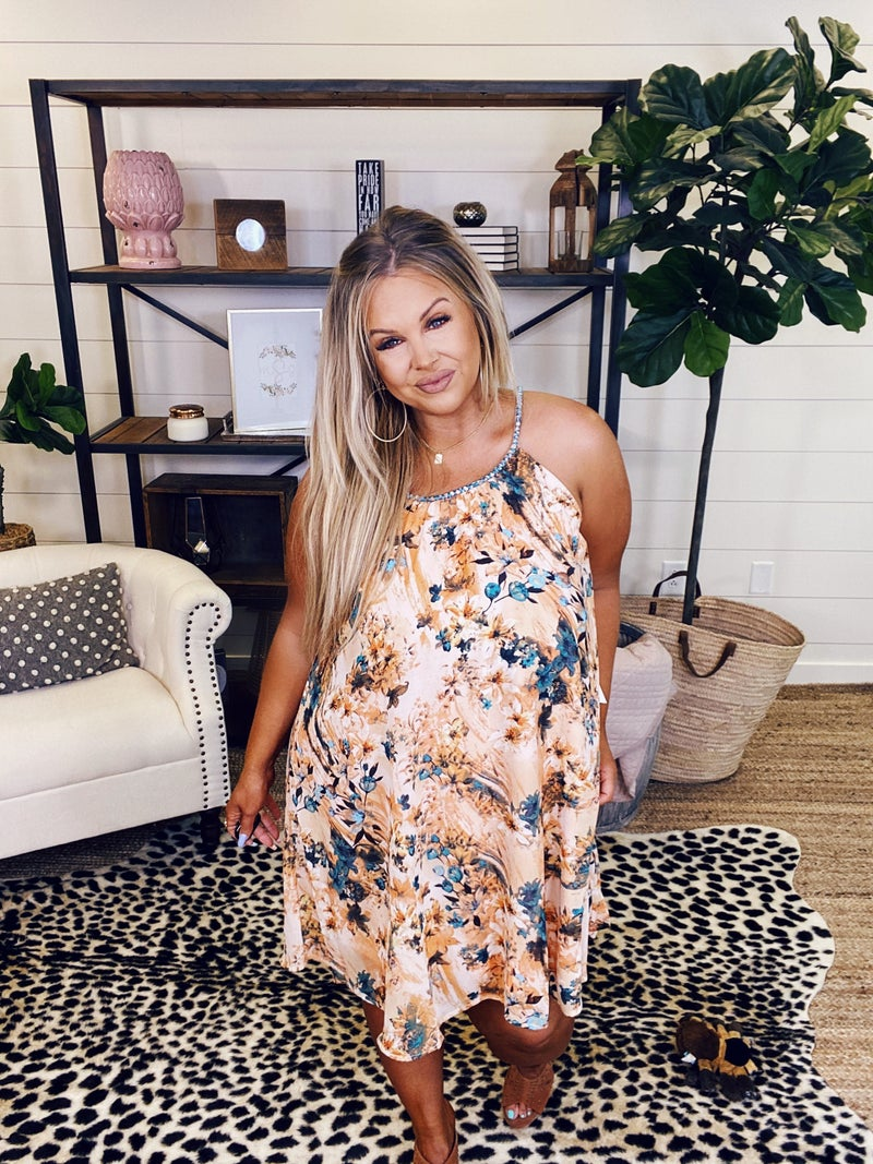 These Are The Days Dress - Apricot