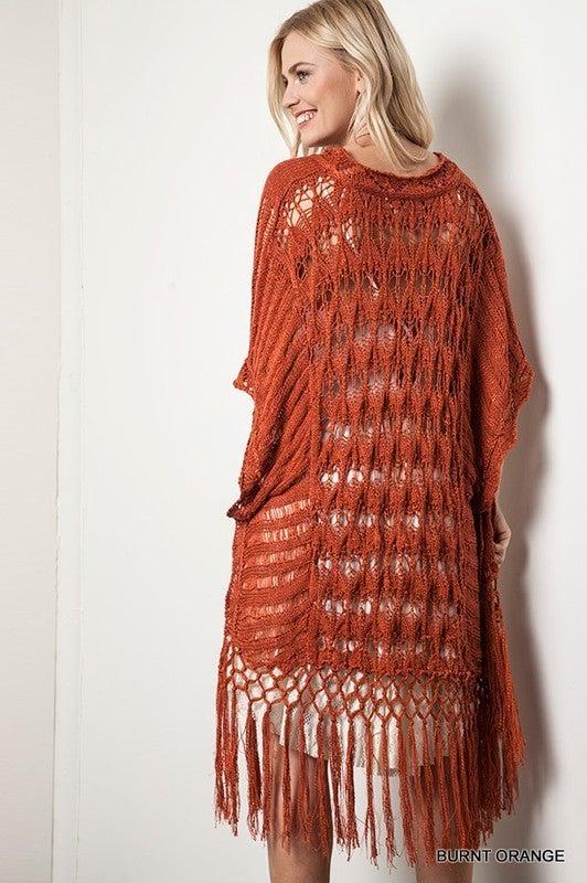 Stay Stylish Sweater - Burnt Orange