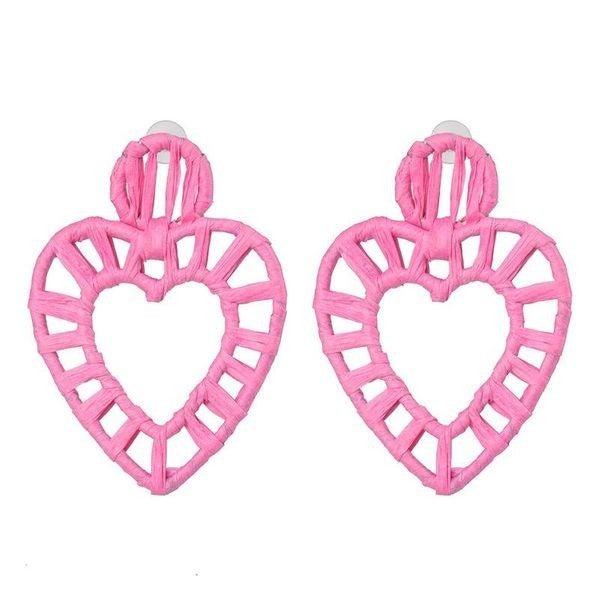 Sweet Days Heart Earrings - Pink