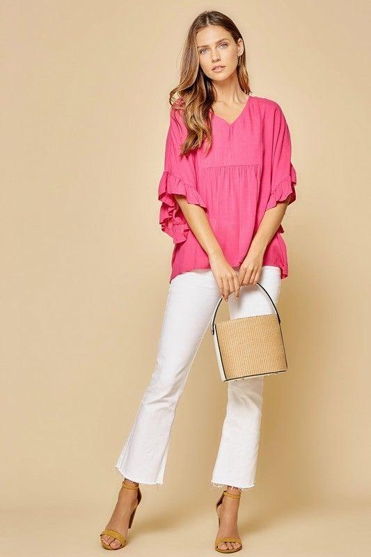 PLUS/REG Simple Times Top - Pink