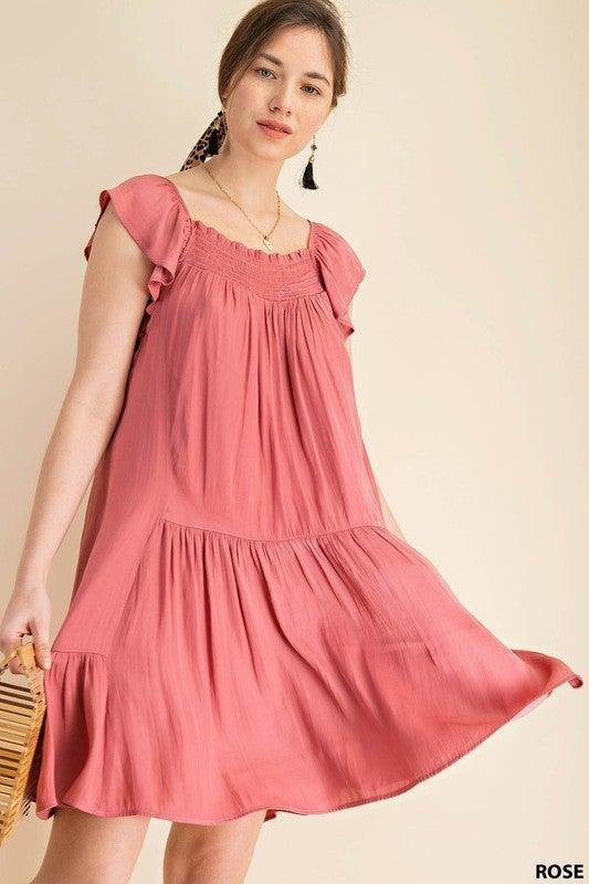 Sweetly Me Dress - Rose
