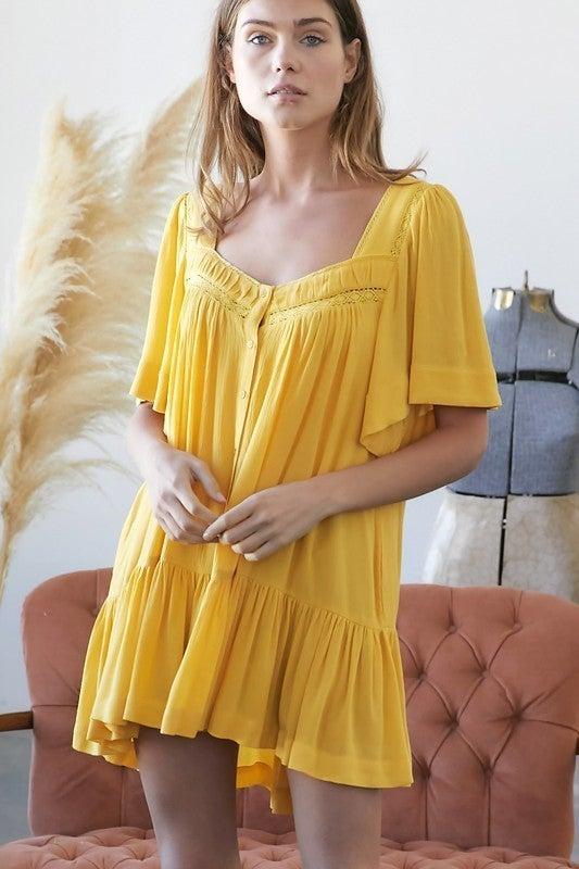 Sunshine Fun Dress - Yellow