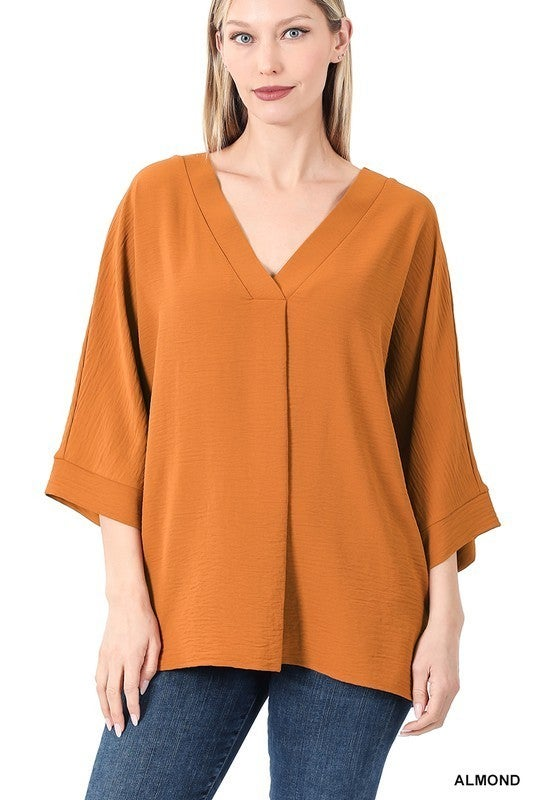 PLUS/REG Relax For Days Top - Almond