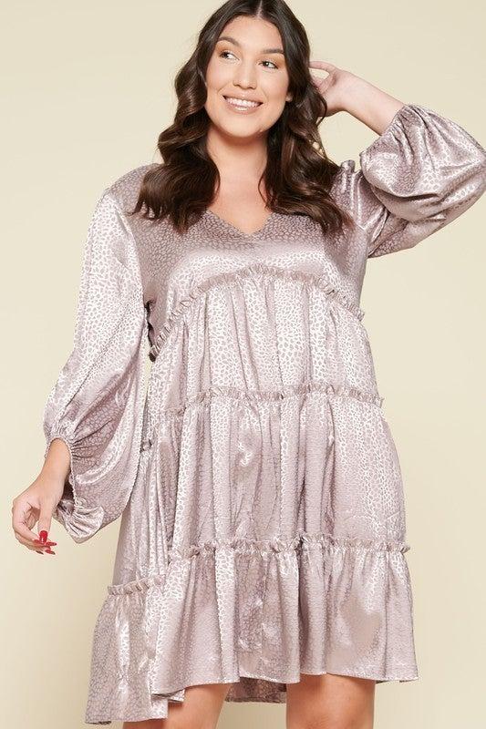 Reg/Plus One Beautiful Day Dress - Mocha