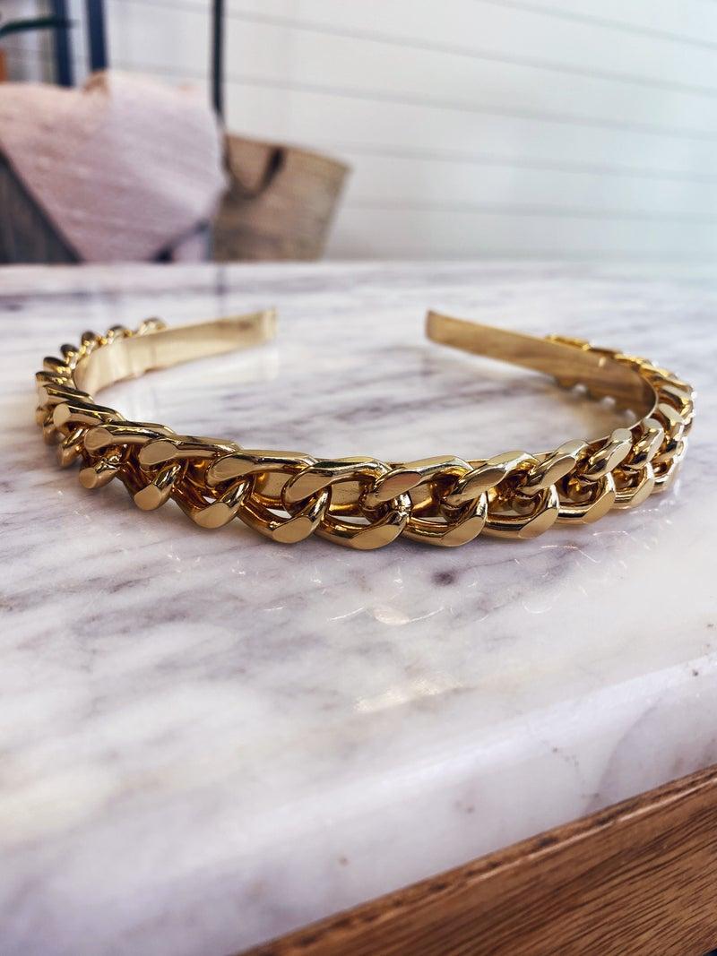 Say Hello Headband - Gold