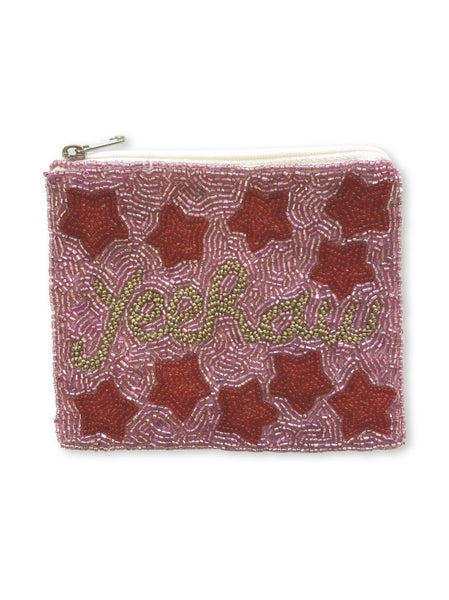 YeeHaw Star Coin Pouch - Pink