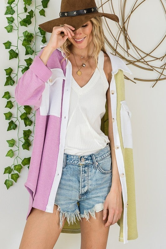 Rock To The Beat Top - Lavender