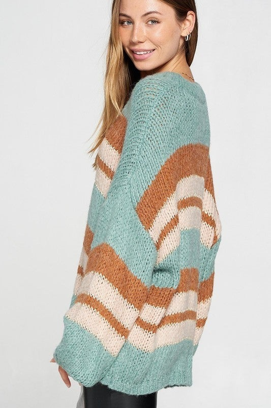 Say It With Stripes Sweater