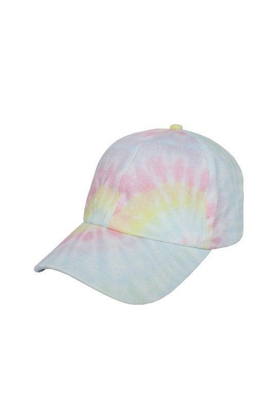 Life Is Fun Tie Dye Baseball Caps-Pink