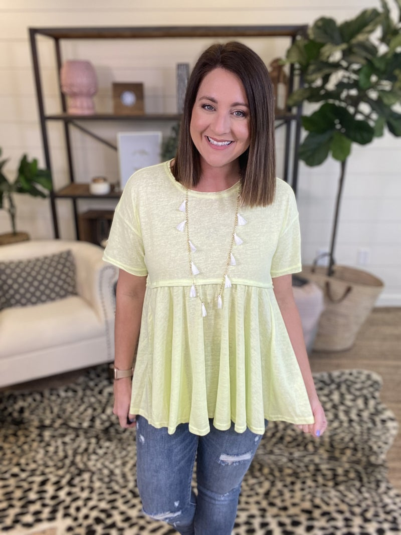 Forget Me Not Top - Lime