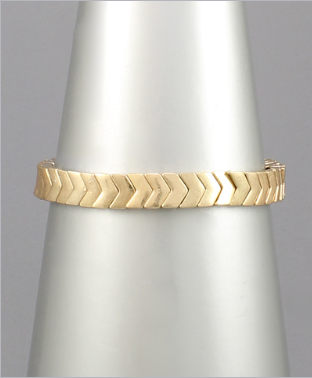 Going the Extra Mile Bracelet - Worn Gold