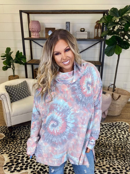 Hippie Vibes Poncho Knit Top