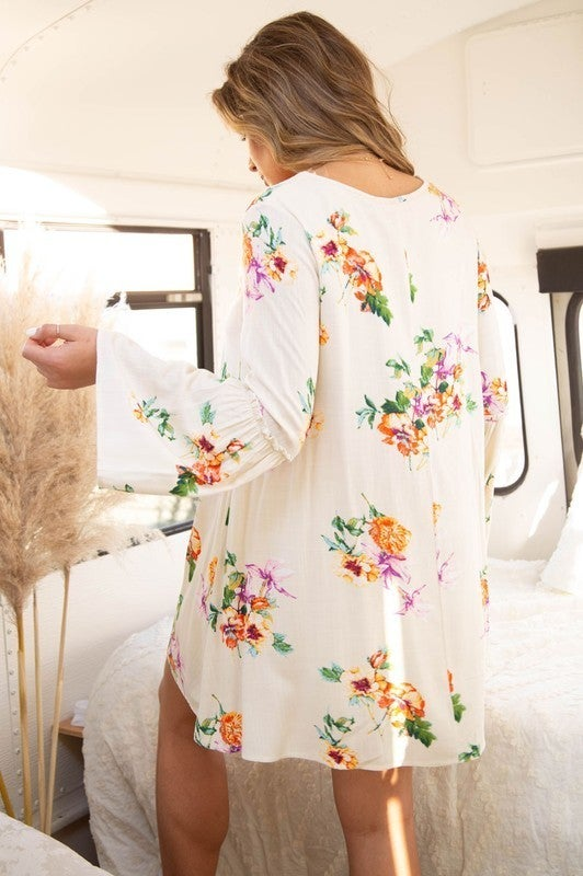 Go With The Flow Dress-Natural