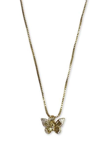 Love, Poppy Butterfly Necklace
