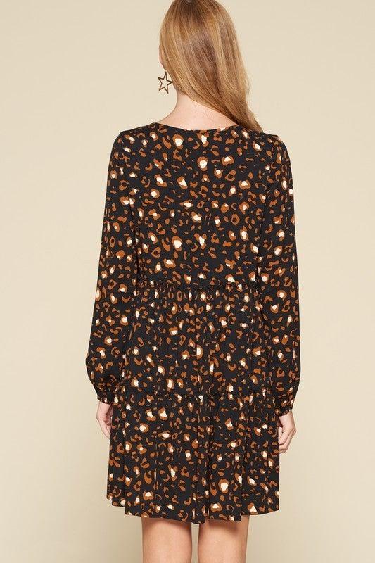 Reg/Plus On the Prowl Dress - Black