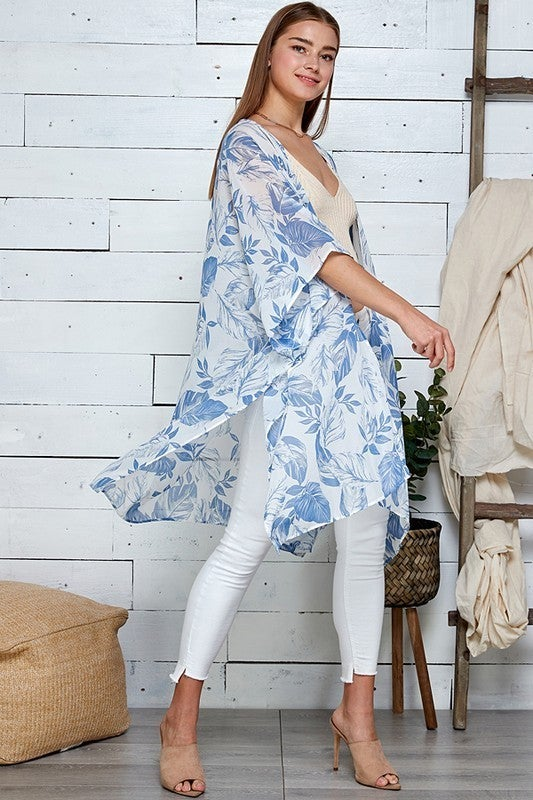 Tropical Delight Kimono - Blue